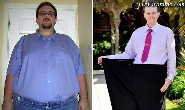 رکورد دار رژیم لاغری جهان با کاهش وزن 110 کیلویی!!