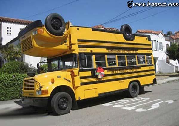 خنده دار و جالب ترین اتوبوس های موجود در دنیا