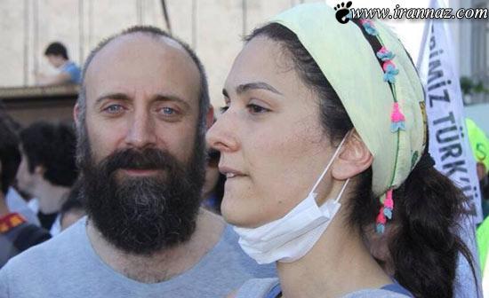 بازیگر سریال «حریم سلطان» در اعتراضات ترکیه (عکس)