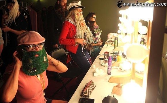 عکس های مسابقه بامزه ترین دختران با ریش و سبیل