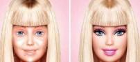 چهره واقعی عروسک معروف باربی بدون آرایش (عکس)
