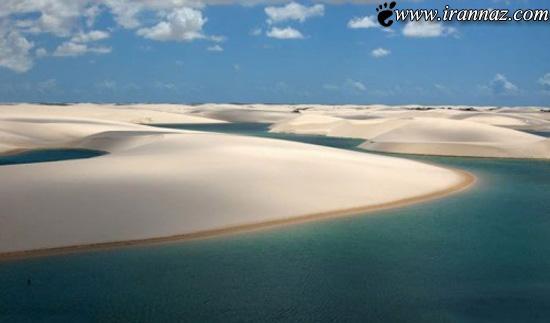 عکس هایی دیدنی از عجایب زیبای صحرای سفید برزیل