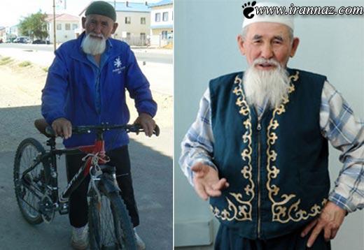این پیرمرد 76 ساله با دوچرخه به حج می رود!! (عکس)