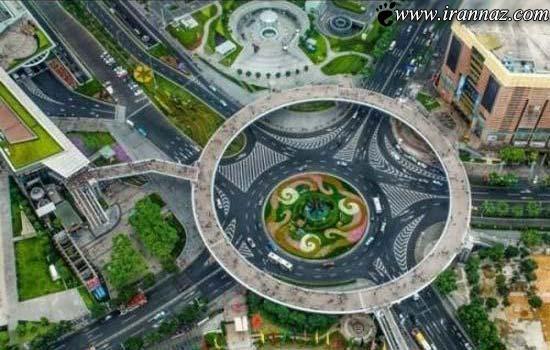 شگفت انگیزترین پل عابر پیاده جهان در چین (تصاویر)