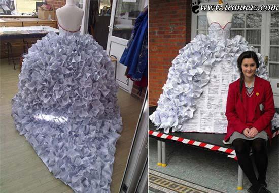 این دختر با لباس عروسی شهرت جهانی یافت (عکس)