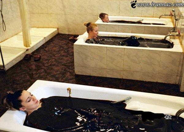 عکس های عجیب و خنده دارترین حمام زنانه در جهان!