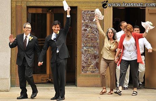 ازدواج همجنس بازان در فرانسه هم آزاد و قانونی شد!!