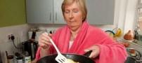 عجیب ترین خانمی که در خواب آشپزی میکند! (عکس)
