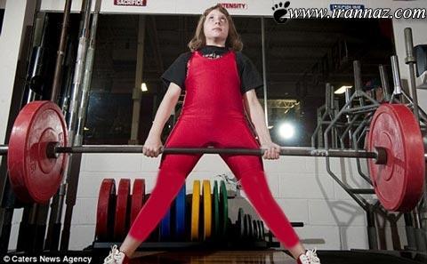 ثبت اسم این خانم به عنوان قویترین دختر جهان (عکس)