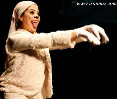 بازیگر زن مشهور ایرانی در نقش ماده سگ!! (عکس)