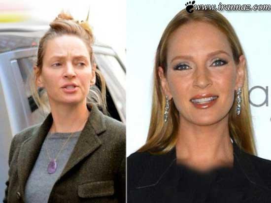 عکس های جدید زیباترین زنان معروف قبل از میکاپ