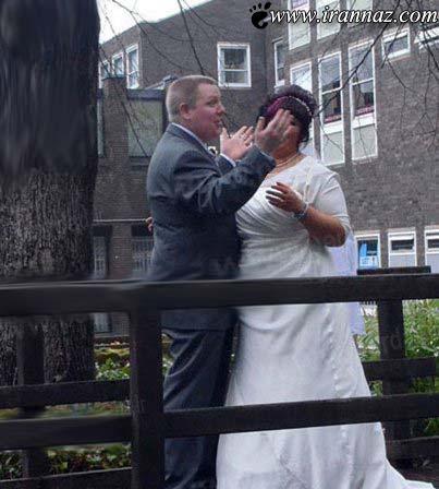 اقدام عجیب عکاس حرفه ای در مراسم ازدواج این زوج