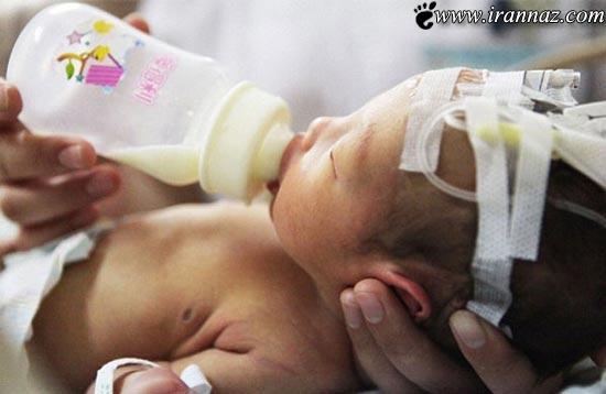 عکس هایی از نجات نوزاد 2 روزه از لوله فاضلاب!! (18+)