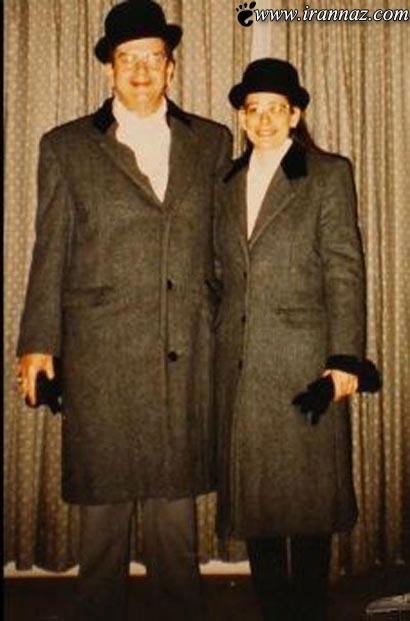 این زن و شوهر 35 سال یکسان لباس پوشیدند (عکس)