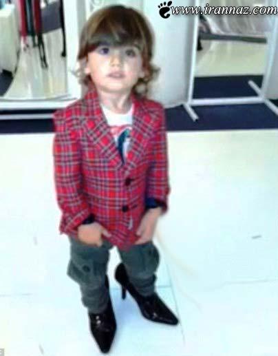 سوژه شدن پسر سلن دیون با کفش های پاشنه بلند!!