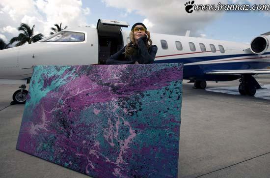 هنرنمایی بسیار جالب این خانم با موتور جت! (تصویری)