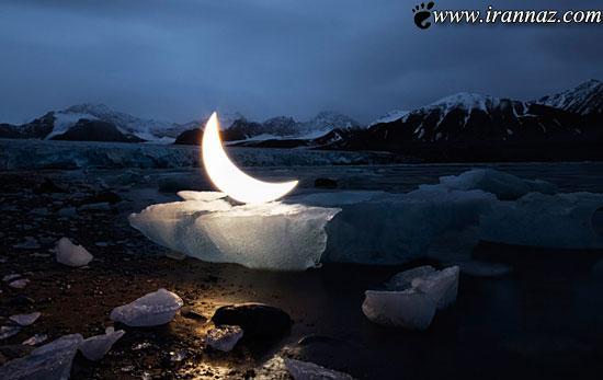 عکس های جالب از اولین انسانی که ماه شخصی دارد!
