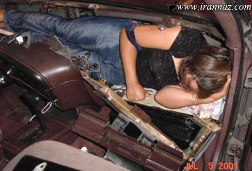 عکس هایی از قاچاق دختران جوان در داشبورد ماشین