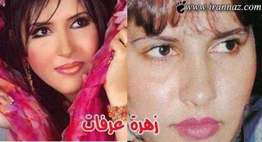 عکسهای جالب از زیباترین زنان عرب قبل از آرایش کردن