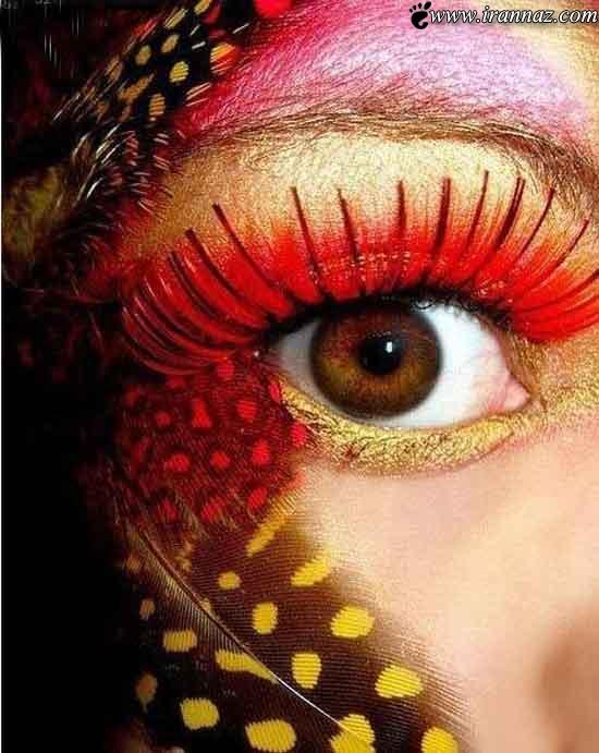 تصاویری از جدید و زیباترین مدل آرایش چشم در سال 92