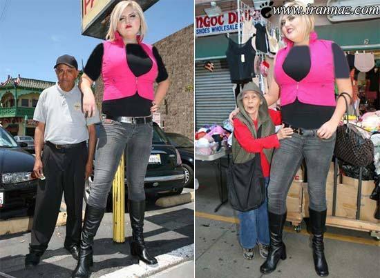 عکس های دختری زیبا با 206 سانت قد و اندامی عجیب