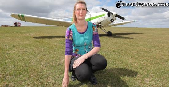 این خانم اگر سوار هواپیما نشود حالش بد خواهد شد!!