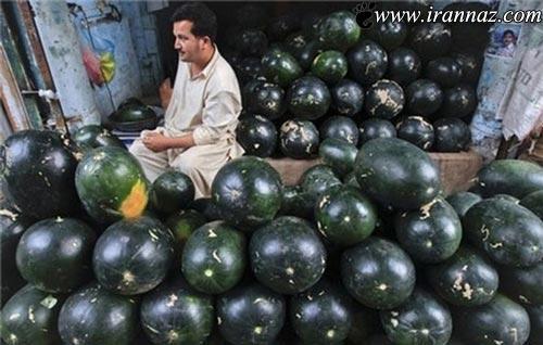 شیوه بسیار جالب فروش هندوانه در پاکستان (+تصاویر)