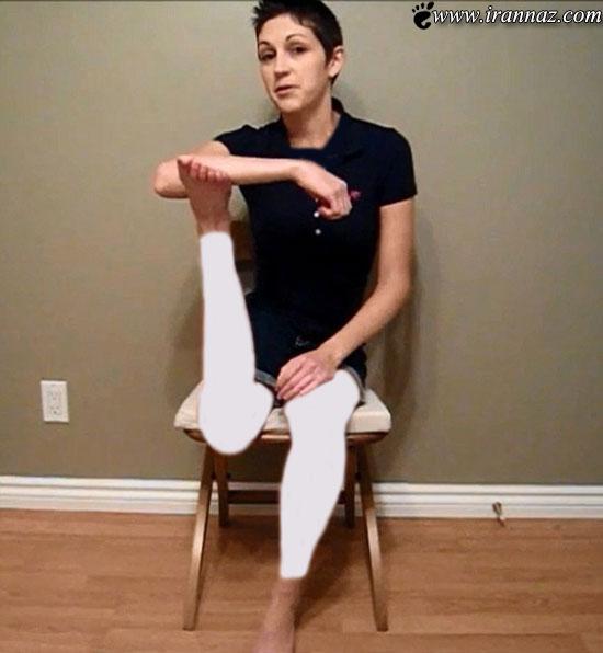 این دختر میتواند پای خود را 180 درجه بچرخاند! (عکس)