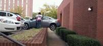 عکس های خنده دار از دسته گلهای خانمها در رانندگی