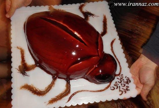 عکس های عجیب و چندش آورترین کیک تولدهای جهان