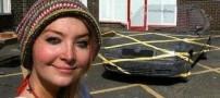 این دختر زیبا قادر است ماشین ها را ناپدید کند (عکس)