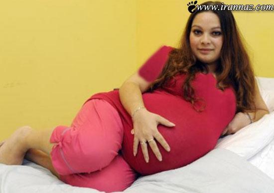 عکس های زنی که با اندام خود رکوردی جدید ثبت کرده!