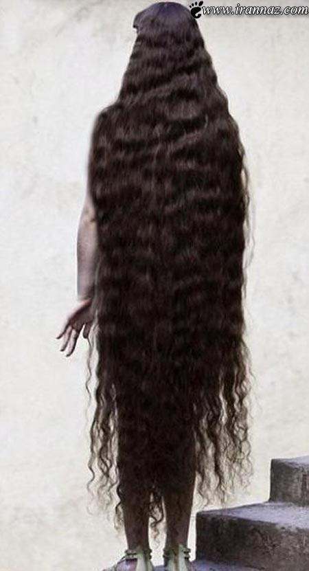 این دختر با موهای 1.5 متری سوژه داغ رسانه ها شده!