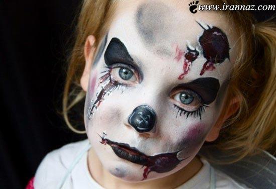 عکس های زنی که کودکان خود را تبدیل به هیولا میکند