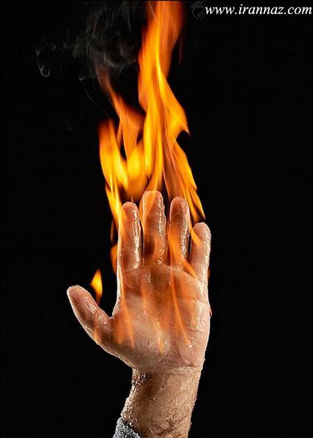 بدلکاران در فیلمها چگونه خود را آتش می زنند؟! (عکس)