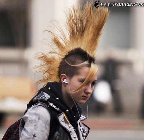 به اینها می گویند مدل موی سیخ سیخی یا... (تصویری)