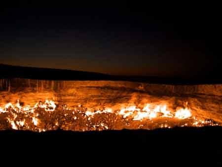عکس های دیدنی از دروازه ی جهنم در ترکمنستان
