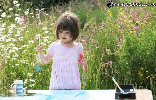 این دختر 3 ساله رقیب سرسخت پیکاسو شد (عکس)