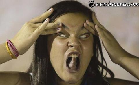 عکس های دیدنی از وقتی دختر ها شکلک در می آورند!