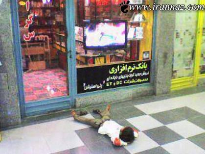 عکسی بسیار غم انگیز از یک کودک مشغول به کار!!