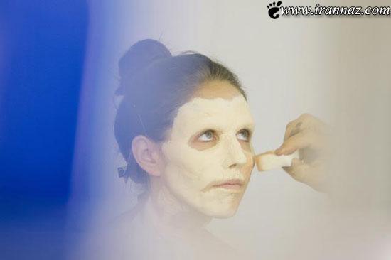 تا بحال دیده اید یک خانم چگونه زامبی میشود؟ (عکس)