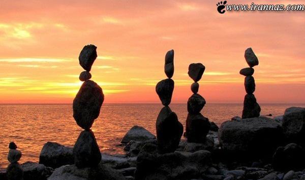آیا چیدمان عجیب این سنگ ها را باور میکنید؟ (عکس)