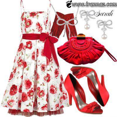 ست های زیبا و جذاب با ترکیب رنگ قرمز و صورتی