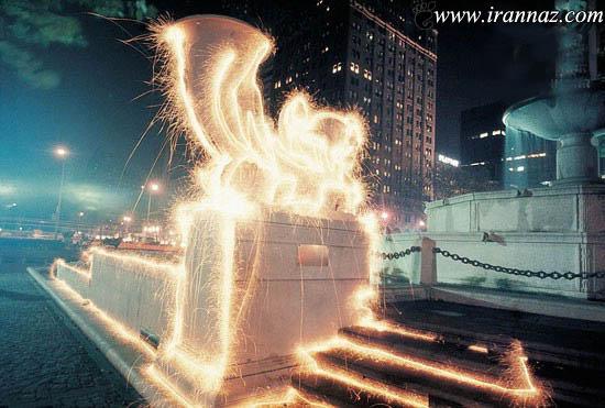 عکس هایی از هنر نمایی بسیار زیبا به وسیله فشفشه