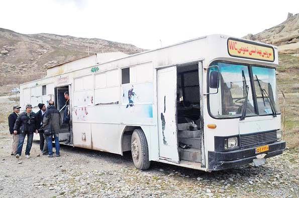 اتوبوسی که سرویس بهداشتی شد (عکس)