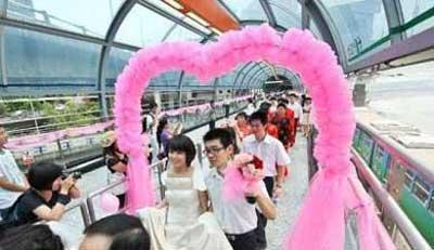 عروسی متفاوت در چین (عکس)