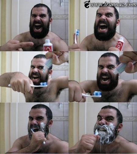 آموزش مسواک زدن برای انسان های اولیه (طنز)
