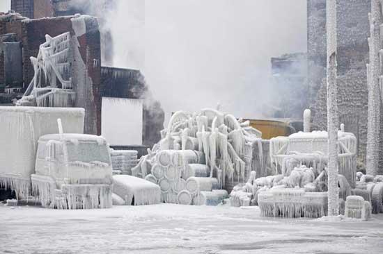 شهری از جنس یخ (عکس)