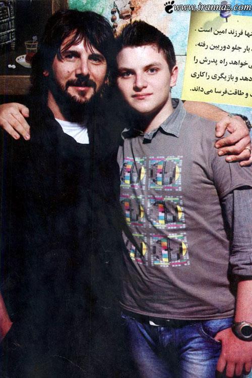 عکسی دیدنی از امین حیایی و پسرش دارا حیایی