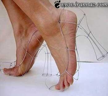 تصاویری دیدنی از جالب ترین مدل های کفش در دنیا